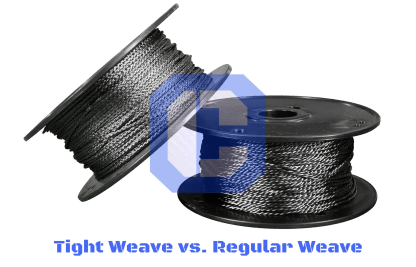 Tight Weave Carbon Cordage vs Regular Weave